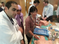 Nephrology fellows simulating US guided CV access
