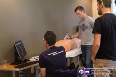 Dr. Arellano takes students through various cardiac ultrasound scenarios