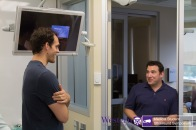 Mike Clemente and Dr. Ouellette, post Simulation
