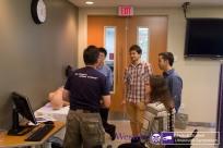 Dr. Arellano works the CAE Vimedix simulator