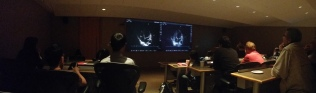Cardiac image interpretation session in posh CSTAR multimedia theatre.