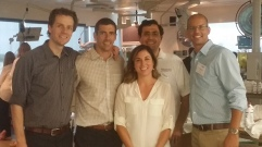 Happy faculty: Scott Millington, Rob Arntfield, Natalie Cram, Behzad Hassani, Travis Kowelessar (L:R)