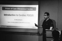 Dr. Behzad Hassani beginning the journey into cardiac scanning