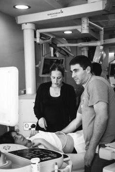 Dr. Hames ensuring perfect LUQ scanning technique